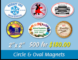 Circle & Oval Magnets Canada